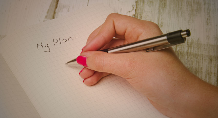 Write Down Your Plan For Your New Year's Resolution